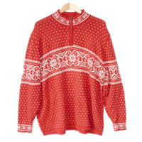 Classic Nordic Snowflake Men's Ski / Ugly Christmas Sweater