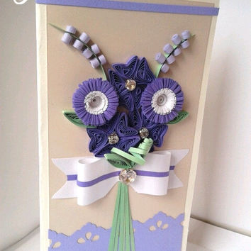 Unique handmade greeting card, Wedding card, Birthday card, Thank you card, Mother's day