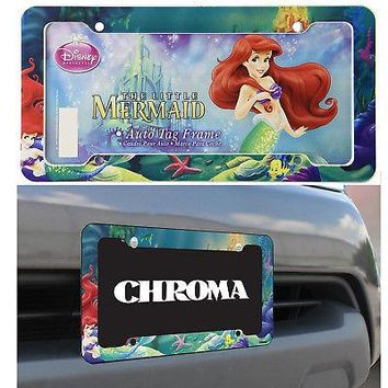 Licensed Official Disney The Little Mermaid Ariel Classic Car Truck Automotive License Plate Frame