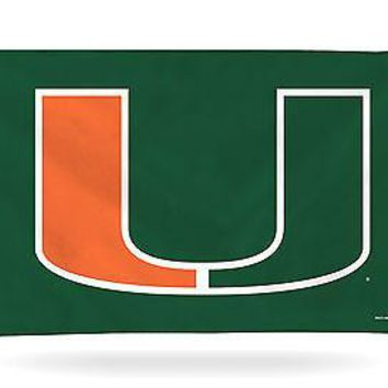 Miami Hurricanes GREEN Rico 3x5 Flag w/Grommets Outdoor Banner University of
