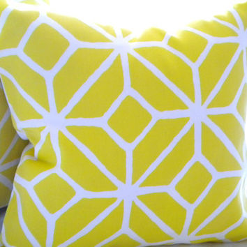 Trina Turk Trellis pillow cover Print Citron 16 x 16