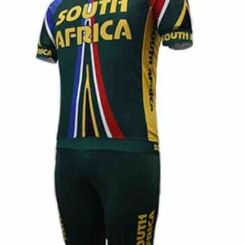 NEW South Africa Team 2018 teams kits cycling jerseys set summer mens Bicycle maillot breathable MTB Short sleeve bike clothing