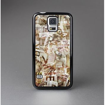 The Vintage Torn Newspaper Collage Skin-Sert Case for the Samsung Galaxy S5