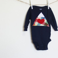 Mountain Onesuit, Mountain Love Onesuit, Colorado Love Onesuit, Ready to SHIP, Size 3 Months Onesuit