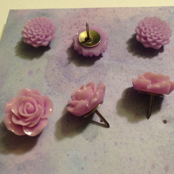 Decorative Tacks- Flowers, Housewarming gift, Coworker gift