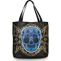 Tote Bag | Blue & Gold Skull
