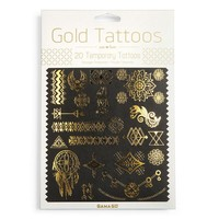 Gama Go 20-Pack Temporary Gold Foil Tattoos (Yellow)