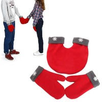 3pcs/set Couple Gloves Polar Fleece Lovers Winter Thicken Warm Glove 3 Color Sweethearts Christmas Gift Romantic Couples Mittens