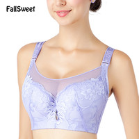 Full Coverage Women Bras with Mesh C D cups Brassiere for Plus Size Lady  42 44 46
