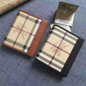 PEAP BURBERRY LEATHER WALLET