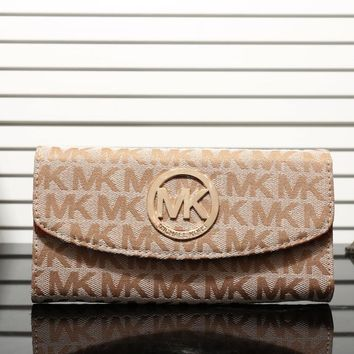 MK 2017 Pure elegant leather printing wallet purse bag [53096775692]