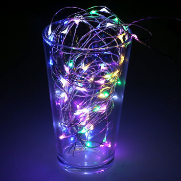 10M 100LED Christmas Fairy Lights Silver Wire LED Starry Lights DC 12V LED String Light for Home New Year Wedding Decoration