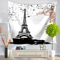 Mandala Tapestry Eiffel Tower Pattern Tapestry 3D Beach Towel Home Decorative Mandala Wall Hanging Tapiz Pared Wall tapestry