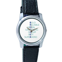BROTHER Abbreviation Typography Wrist Watch