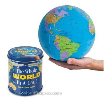 The Whole World In A Can - Inflatable Globe