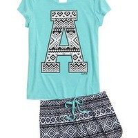 Initial Tribal Pajama Set | Girls Sleepwear Sleep & Undies | Shop Justice