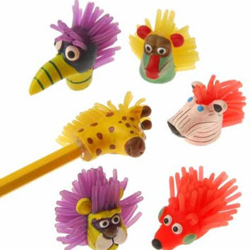wild animal pencil toppers Case of 96