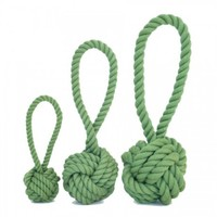 Harry Barker Medium Green Cotton Rope Tug & Toss Toy, Dog Chew Toy, Dog Tug Toy | Toad Hollow