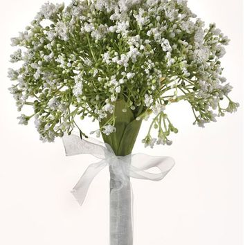 """White Baby's Breath Artificial Bouquet - 12"""" Tall"""