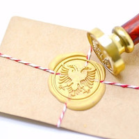 B20 Wax Seal Stamp Heraldic Two Head Double-headed Eagle Phoenix