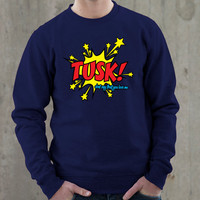 TUSK! Fleetwood Mac Navy Blue Sweatshirt (Lindsey Buckingham, Stevie Nicks, Christine McVie, John McVie, Mick Fleetwood)