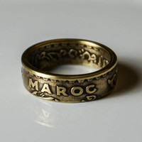 Coin Ring - Morocco - 20 Franc -  Size 8
