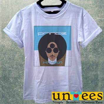 Low Price Women's Adult T-Shirt - Prince Rogers Nelson Hit and Run design