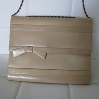 Vintage Christian Dior clutch handbag purse 50s cocktail mid-century modern bow