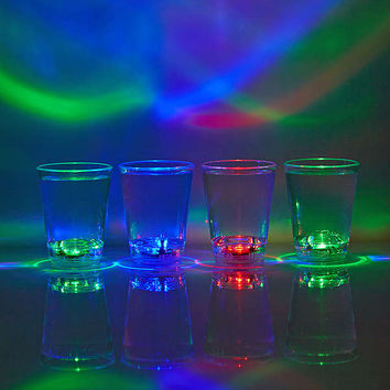 LED Color Shot Glasses Set   Urban Outfitters