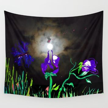 Majestic Bloom Wall Tapestry by ES Creative Designs