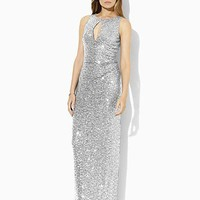 Lauren Ralph Lauren Sleeveless Keyhole Sequin Dress | Bloomingdale's