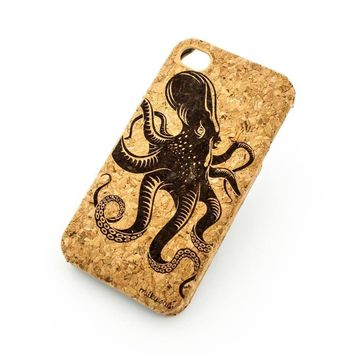 Cork Case Snap On Cover - KRAKEN (Octopus)