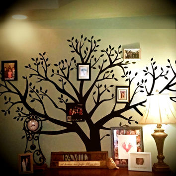 """Family Tree Removable XXL Branch Vinyl Wall Decal, Huge 8' Foot X 9' Foot (96"""" Inches X 108"""" Inches)"""