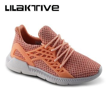 Student school shoes kids sneakers Fabric casual shoes boys and girls lace up breathable solid footwear protect feet