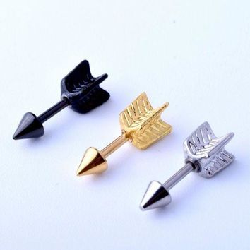 ac PEAPO2Q 1 Piece Fashion Arrow Ear Eyebrow Piercing Jewelry Hand 316L Stainless Steel Cartilage Helix Body Jewelry