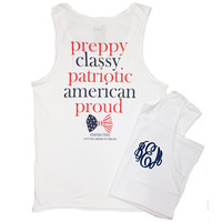 "Monogrammed ""Patriotic and Preppy"" Tank"