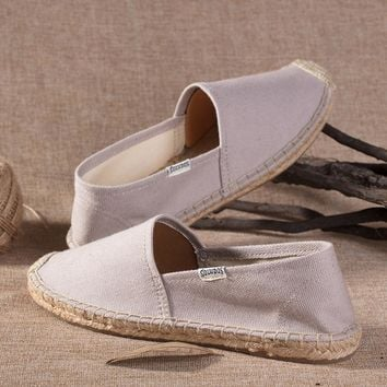 Soludos Women Gray Platform Smoking Slipper