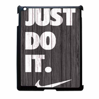 Nike Just Do It Wood Colored Darkwood Wooden iPad 4 Case