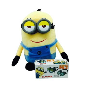 Minions 3D Eye Mask Goggles Glasses Children Favors Party Supplies Cosplay Costume Props Funny Decorative