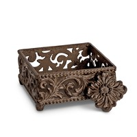 """GG Collection 5.75"""" Square Acanthus Cocktail Napkin Holder"""