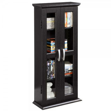 "Media Storage Tower - Holds 100 DVDs (Black) (41""H x 18""W x 8""D)"
