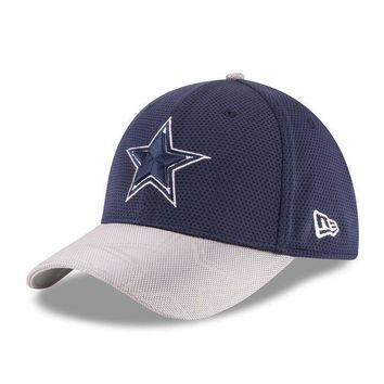 Men's Dallas Cowboys New Era Navy 2016 Sideline Official 39THIRTY Flex Hat
