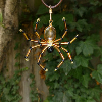 Spider Necklace - Halloween Jewelry, available in other colors also