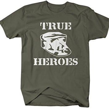 Shirts By Sarah Men's True Heros Military Shirt Support Troops T-Shirts