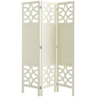 Lisette Floor Screen - Antique White