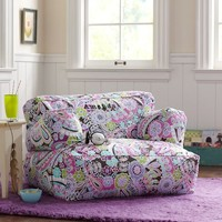 Dark Purple Paisley Pop Eco Lounger