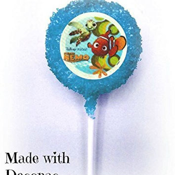 FINDING NEMO White Chocolate Covered Oreo Cookie Pops