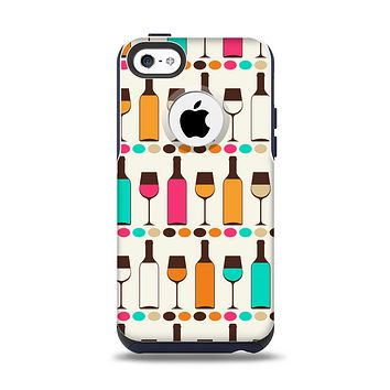 The Vectored Color Wine Glasses & Bottles Apple iPhone 5c Otterbox Commuter Case Skin Set