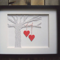 Wedding First Dance Lyric Paper Tree with by DomesticNotions