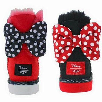 """""""UGG"""" Trending Winter Warm Ladies Bowknot Flat Snow Ankle Boots I"""